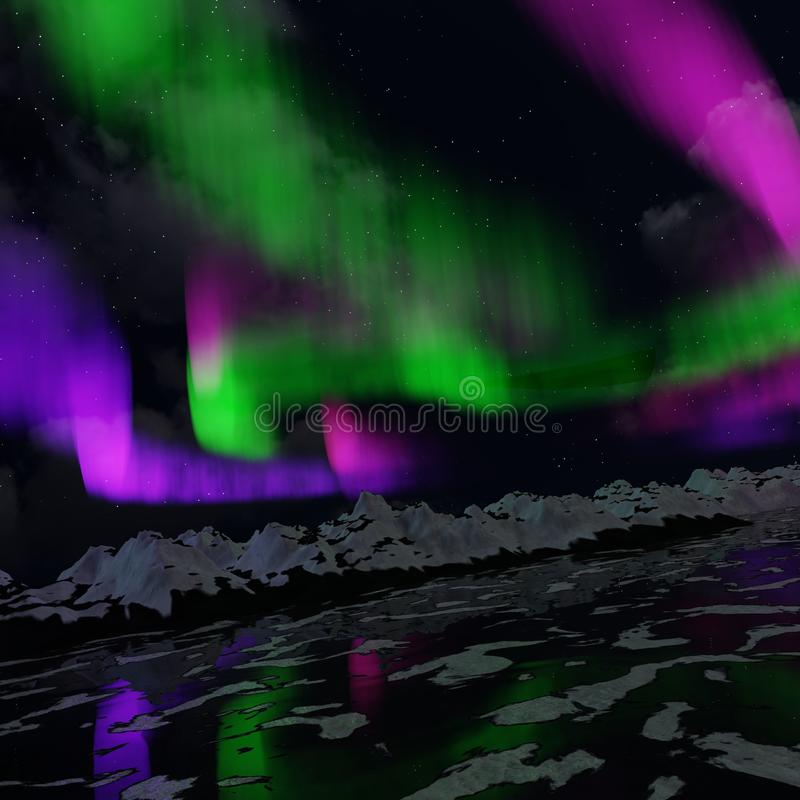 Lumi?res nordiques images stock