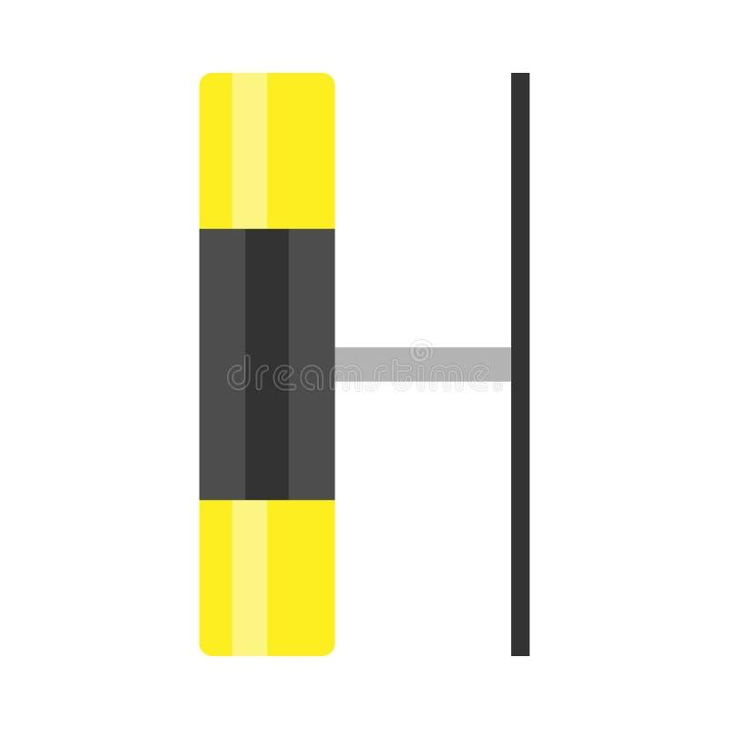 Luminaire helder vector het materiaalpictogram van het gloedsymbool Aanstekende glanzende het huislamp van de stroomarchitectuur  vector illustratie