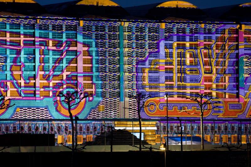 luminale grossmarkthalle frankfurt buildingsite стоковые фото