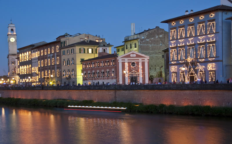 Luminaria i Pisa, Italien arkivfoto
