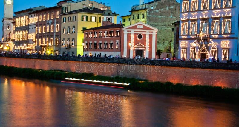 Luminaria in Pisa, Italy stock photography