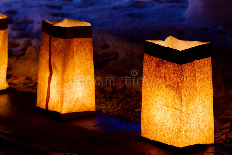 Luminarias arkivfoto