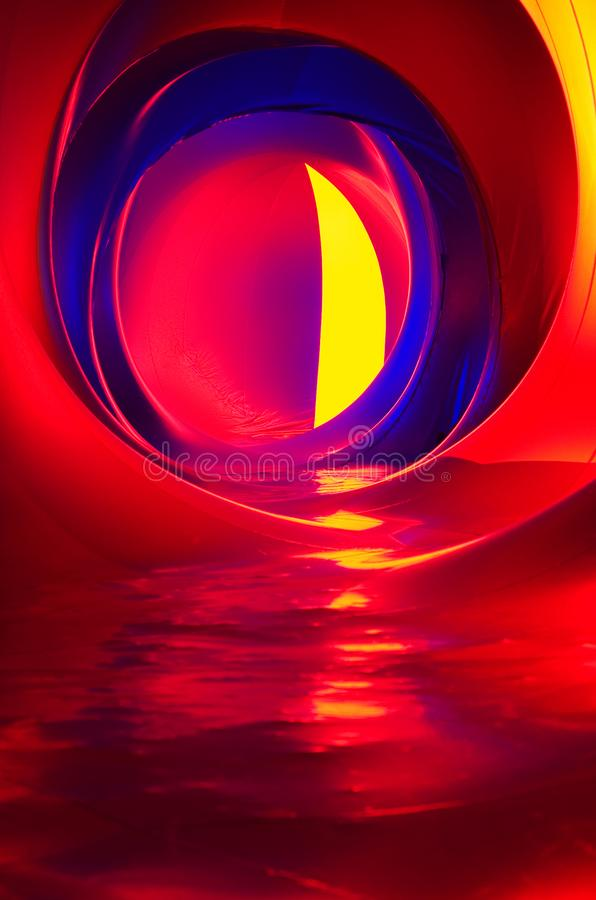 Luminariumlichten stock foto