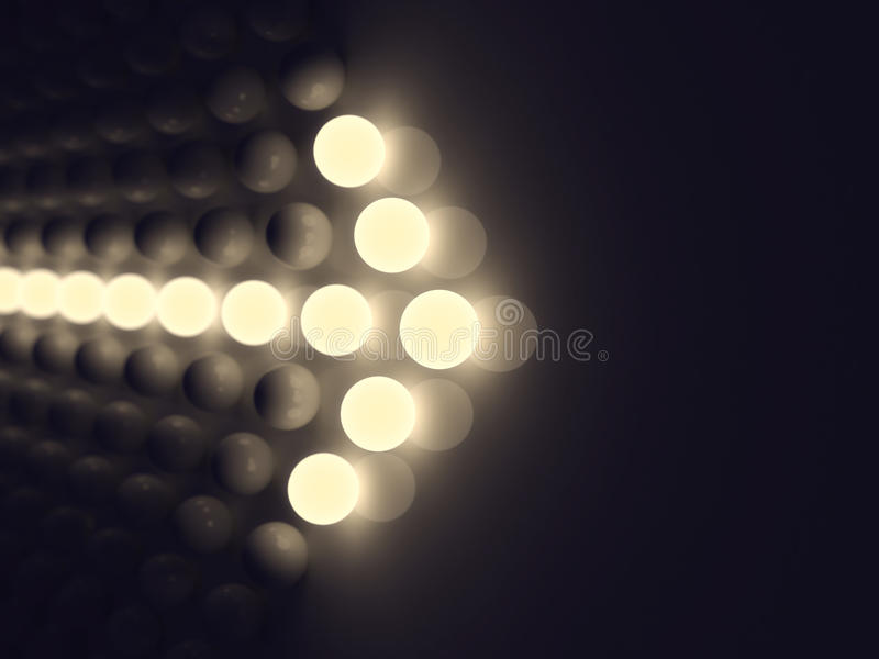 Luminescent arrow vector illustration