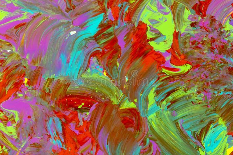 Lumineux coloré mélangé de course aléatoire de brosse de fond images libres de droits
