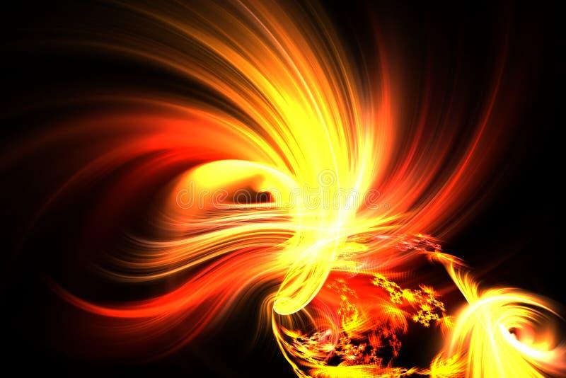 Lumineux fantastique de fractale abstraite la naissance du feu illustration libre de droits
