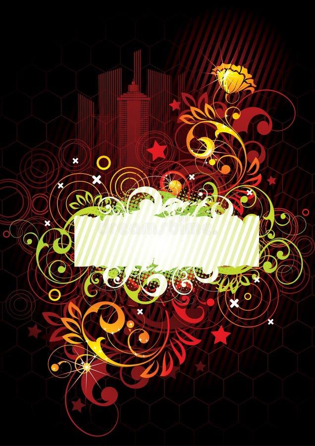 lumineux floral de conception illustration libre de droits