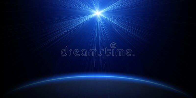 Luminiscencia m?gica del espacio fotografía de archivo