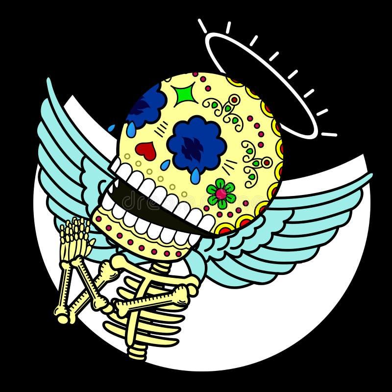 Luminosidade de esqueleto ilustração royalty free