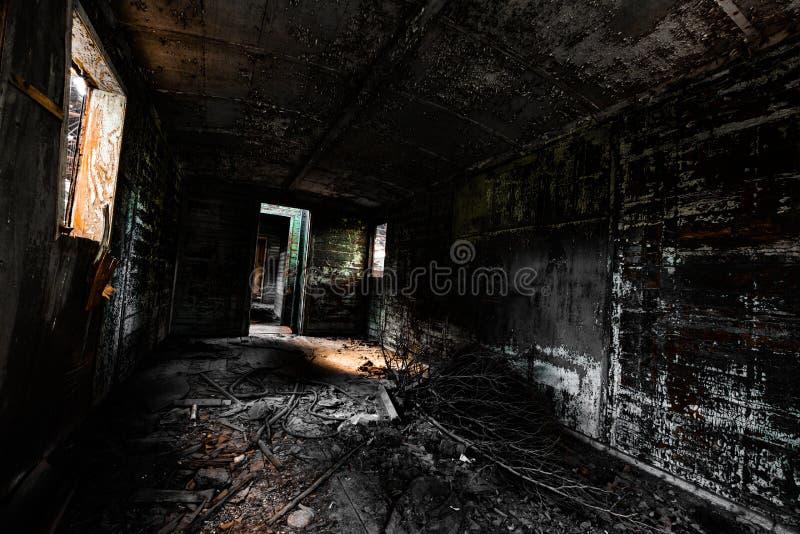 Luminosidade reduzida desarrumado do interior do veículo fotos de stock royalty free