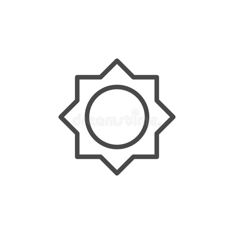 Luminosit?, icona di vettore del sole Icona minimalista di vettore del profilo di multimedia illustrazione vettoriale