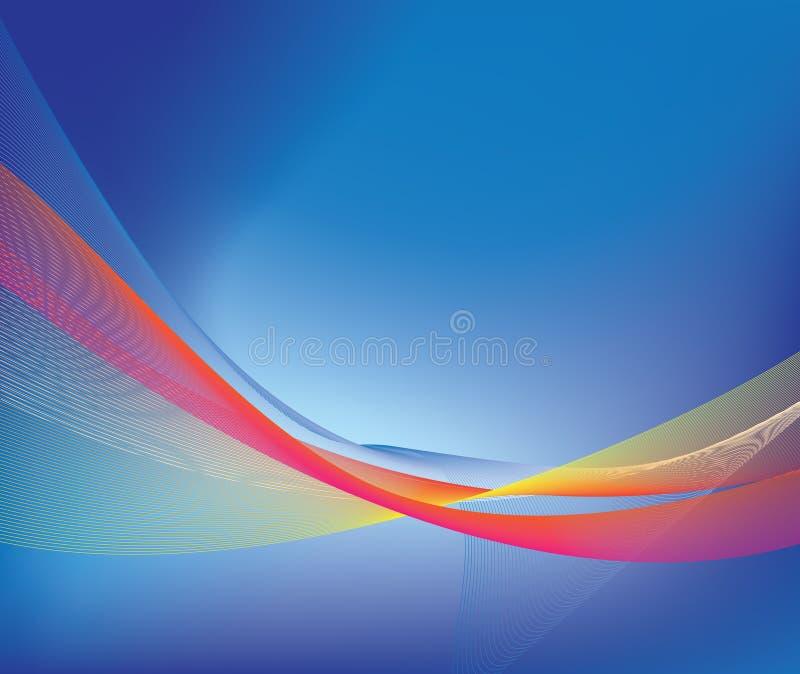 Luminoso astratto blu illustrazione di stock