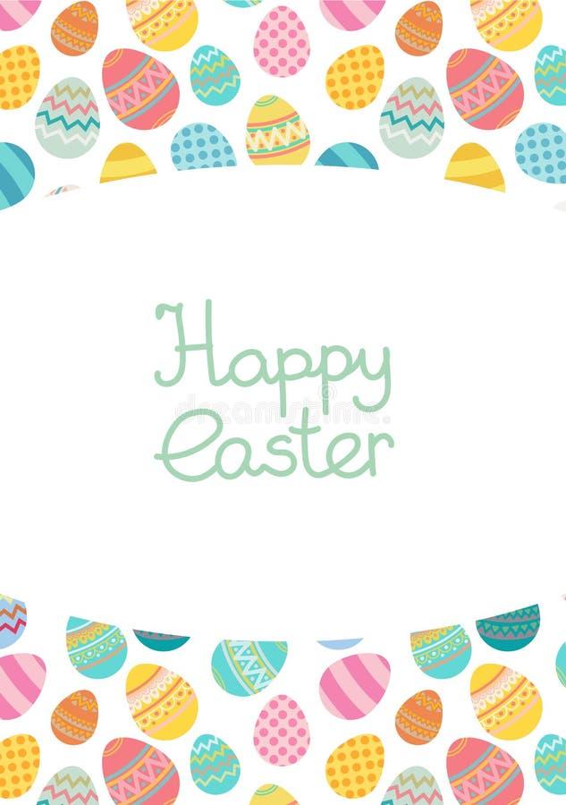 Luminoso del trmplate della struttura dell'uovo di Pasqua di vettore colorato illustrazione di stock