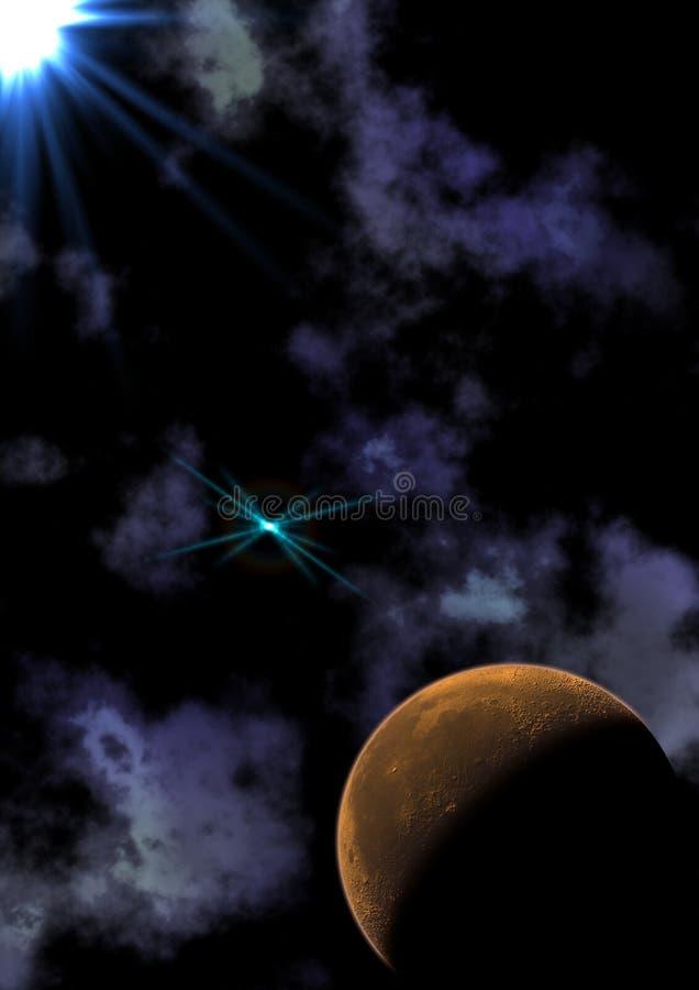 Luminoso estrangeiro do planeta ilustração stock