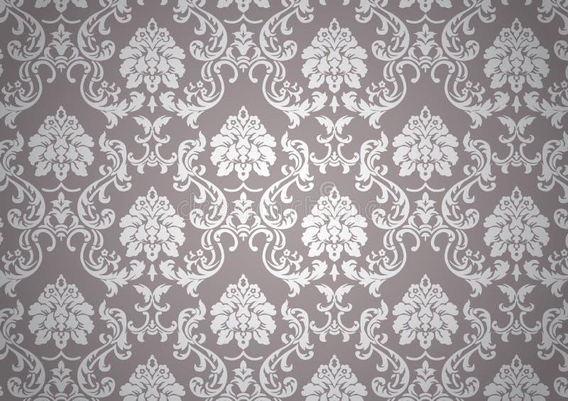 Luminous baroque wallpaper vector illustration