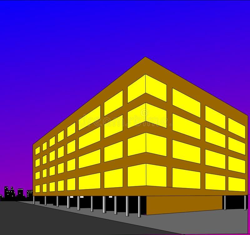 Luminous building royalty free illustration