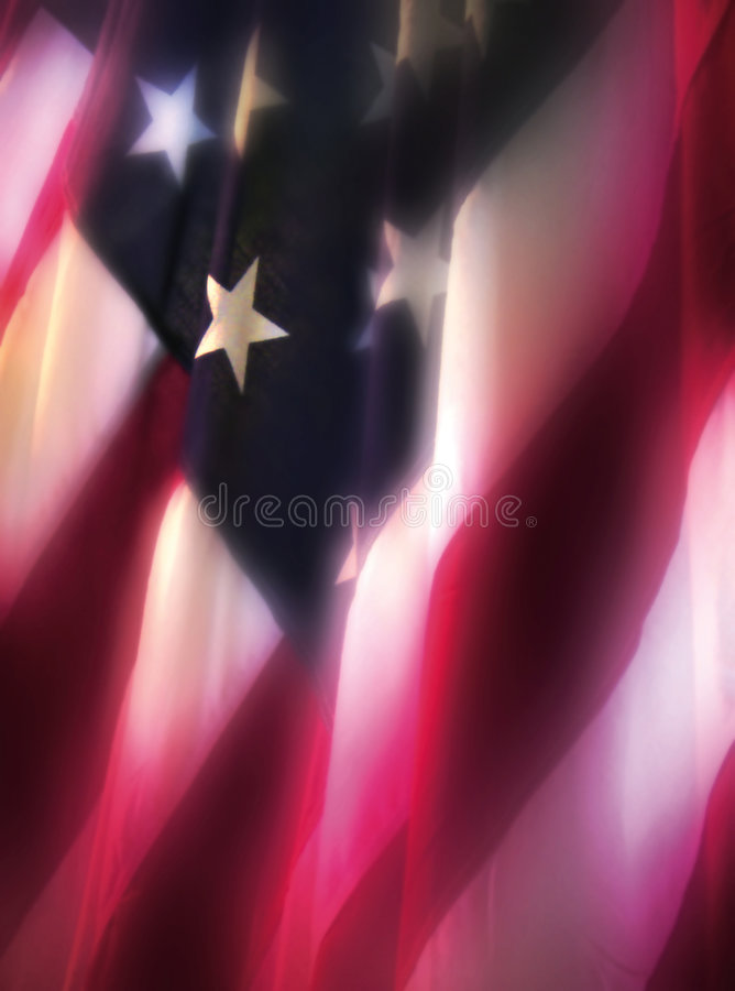 Luminous flag. Somewhat etherreal image of US flag royalty free stock image