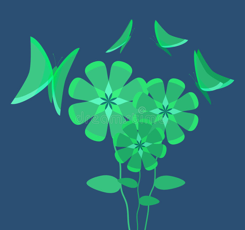 Download Luminous Flowers Attracting Butterflies Stock Photos - Image: 22987893