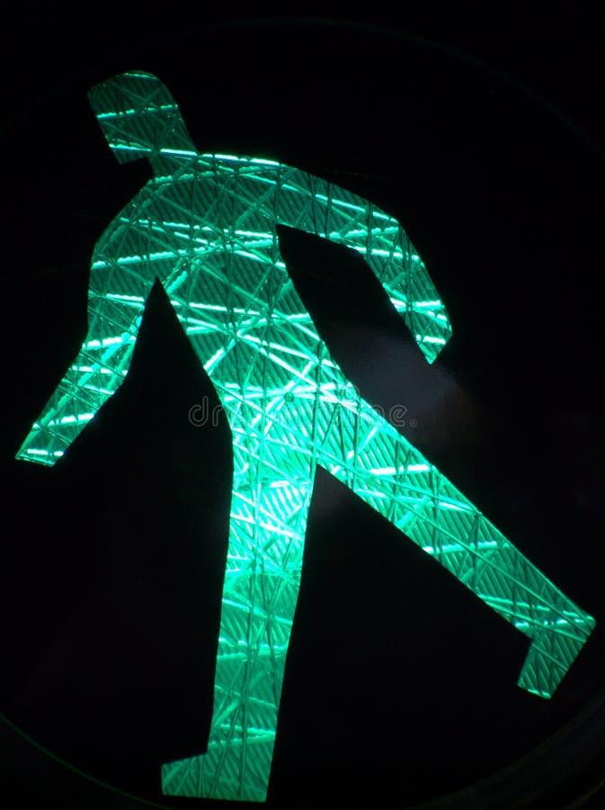 Free Luminous Green Walking Sign Royalty Free Stock Photography - 13697157