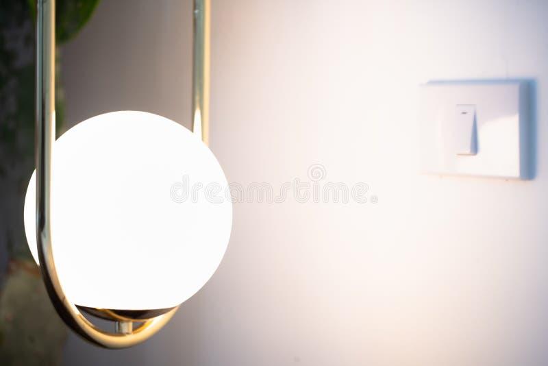 Luminous retro lamp. stock photography