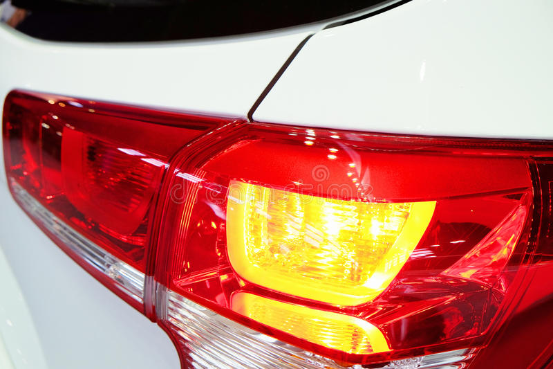 Luminous taillight modern car royalty free stock photo