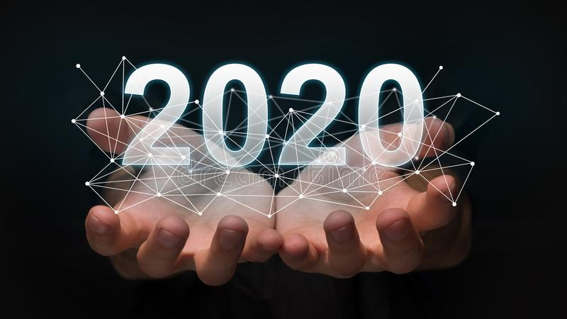 New 2020 year technology concept. stock photos