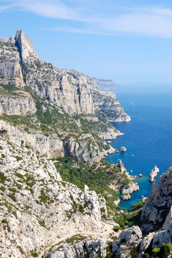 Luminy Calanques DE, Marseille royalty-vrije stock foto