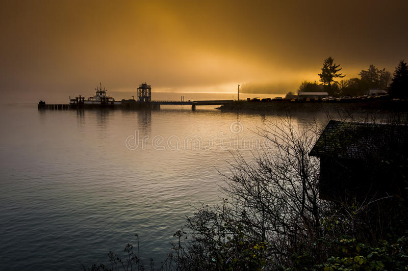Lummi-Insel-Fähre lizenzfreie stockbilder