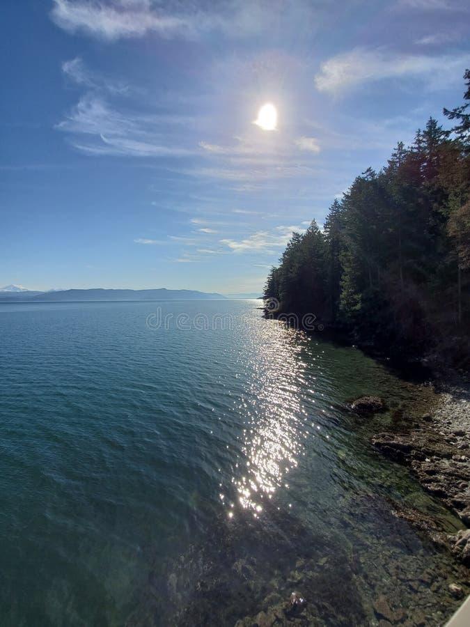 Lummi wyspa w ten sposób spokojna i pokojowa miłość fotografia royalty free
