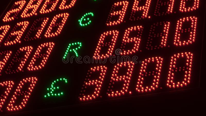 Lump board currency exchange. Of Ukrainian hryvnia stock image