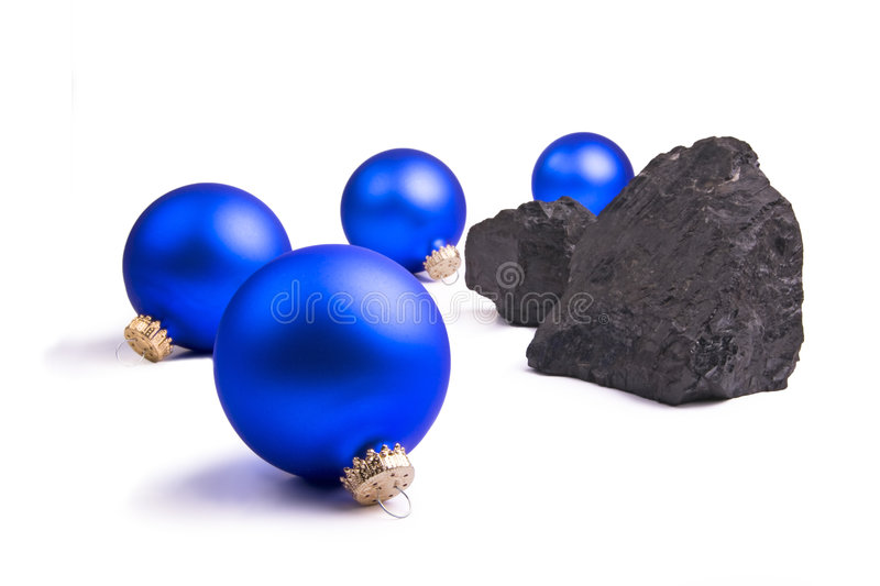 Lump of Coal for Christmas royalty free stock photos