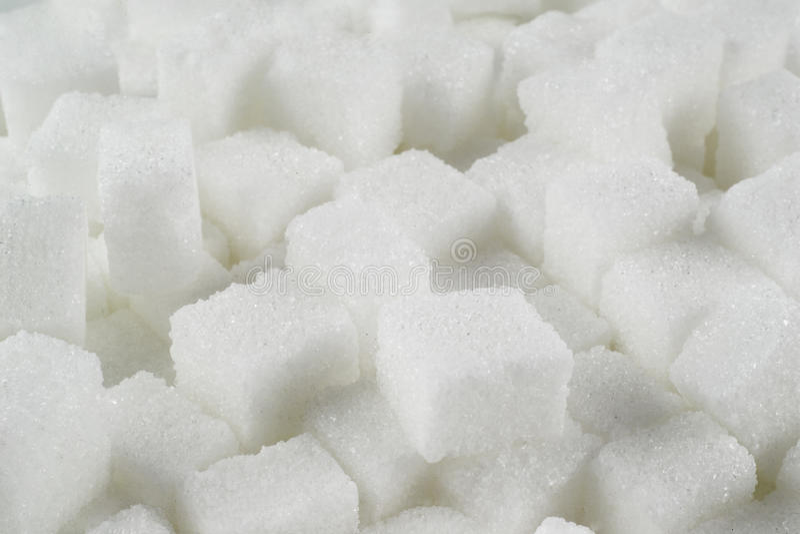 Lump sugar stock photo