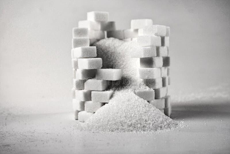 Lump sugar - close up royalty free stock images