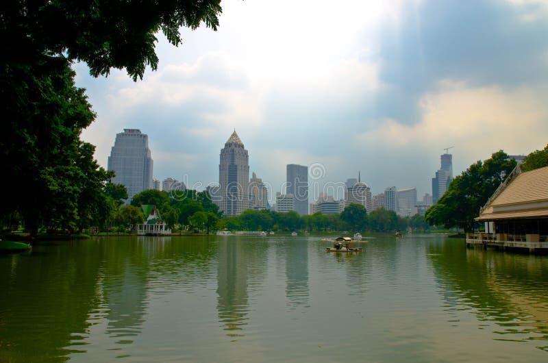 Lumpini park royalty free stock photo