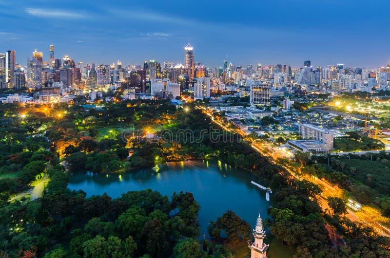 Lumpini park w Bangkok fotografia royalty free