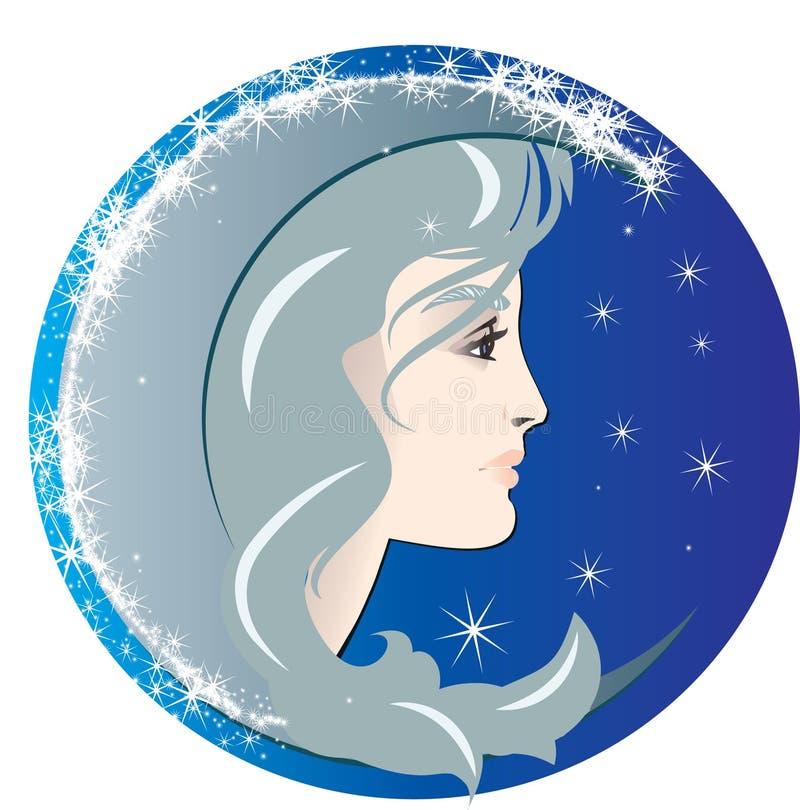 Download Luna stock vector. Illustration of comic, lunar, blue - 8621217