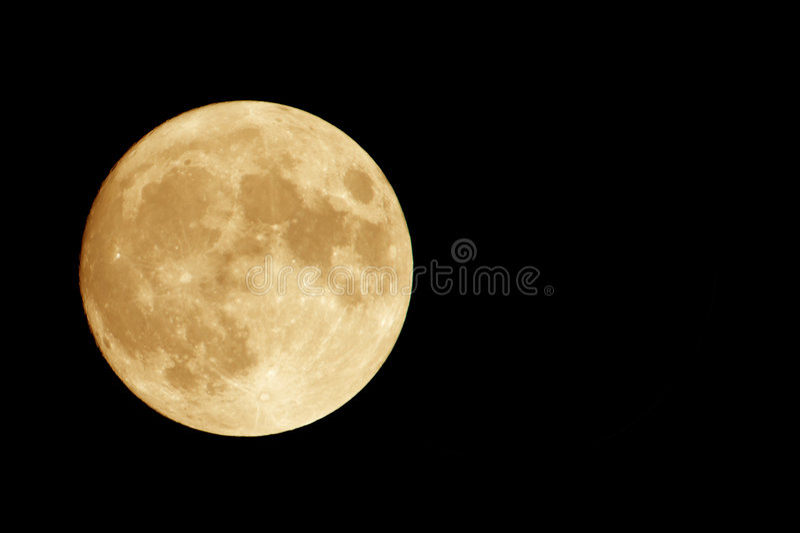 Luna arancione fotografie stock