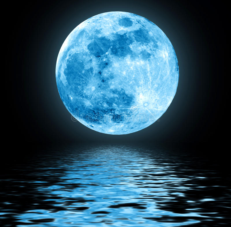 Luna azul fotos de archivo