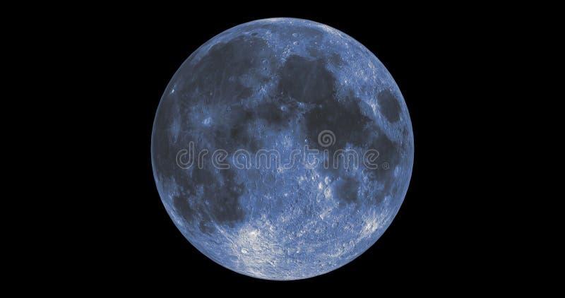 Luna azul ilustración del vector