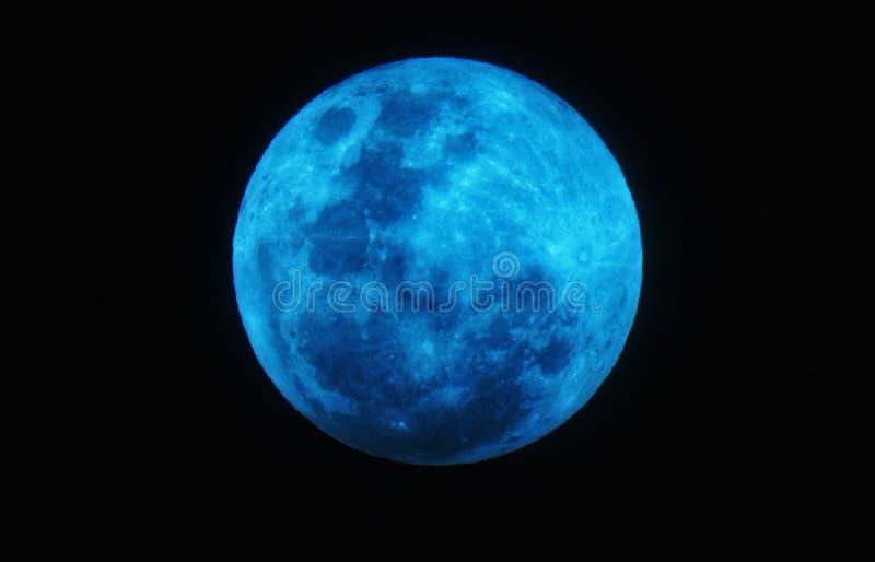 Luna azul estupenda foto de archivo