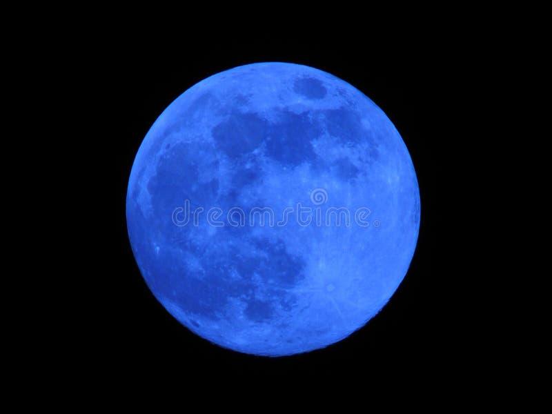 Luna blu fotografia stock