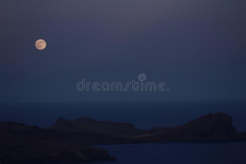 Luna blu immagine stock