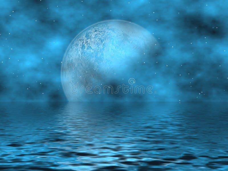 Luna blu & acqua dell'alzavola illustrazione vettoriale