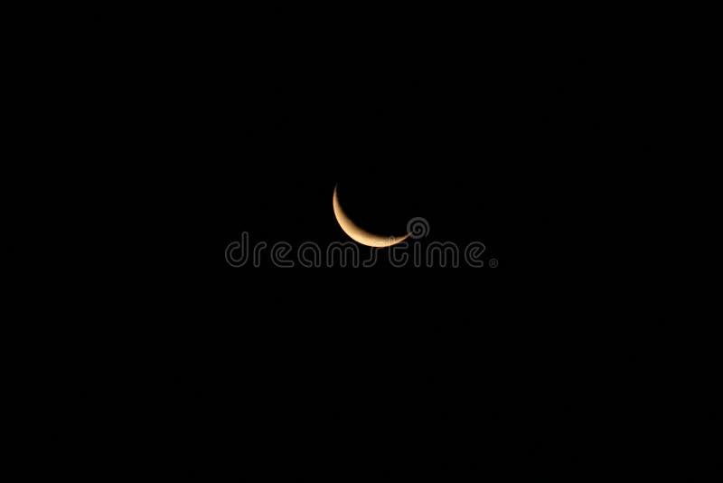 Luna calante immagine stock