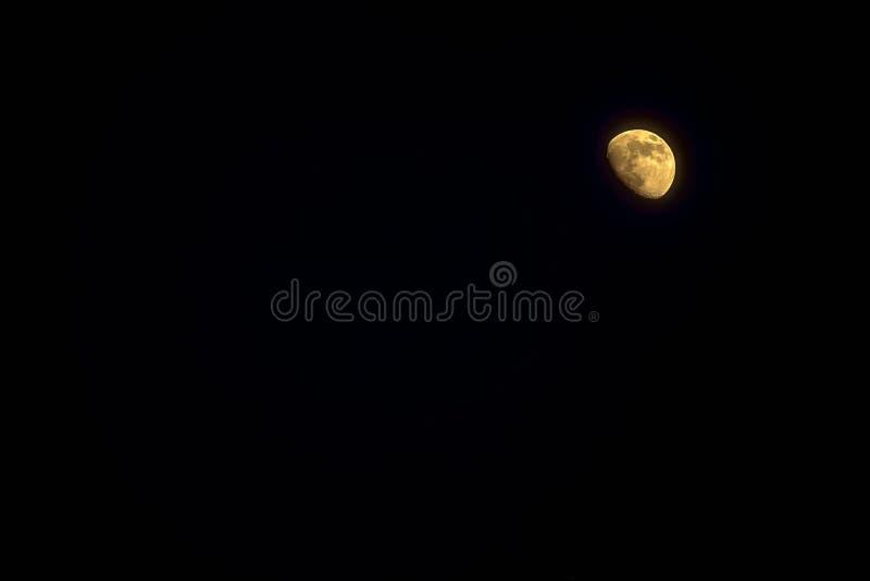 Luna creciente foto de archivo