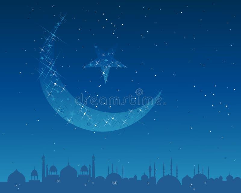 Luna creciente ilustración del vector
