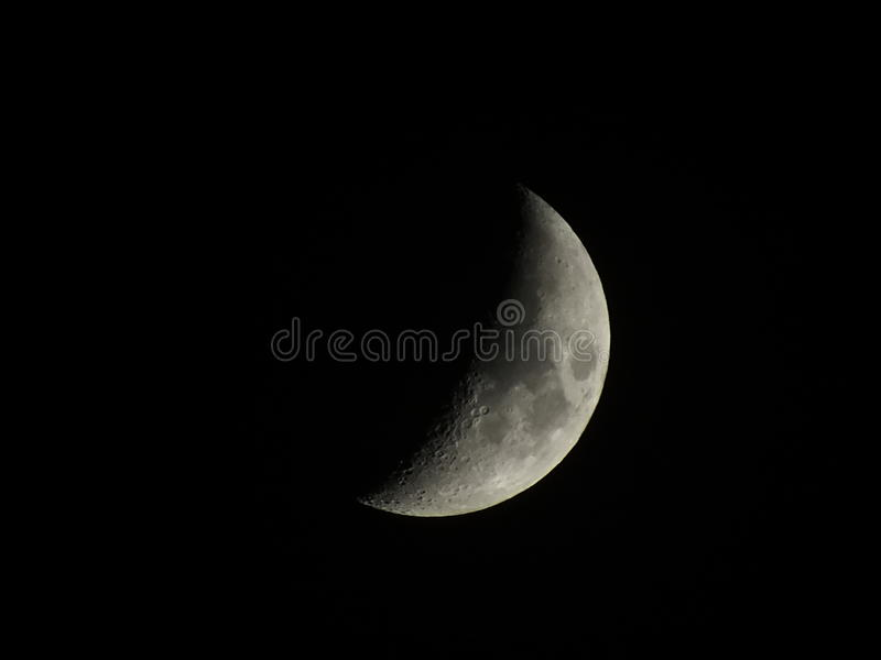 Luna creciente fotografía de archivo