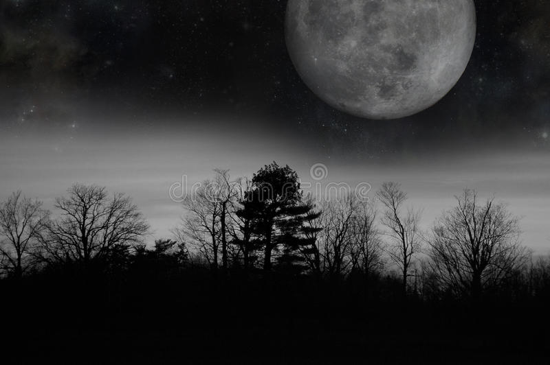 Luna crepuscular gris fotografía de archivo libre de regalías
