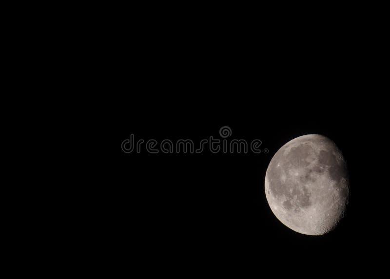 Luna de disminución imagen de archivo