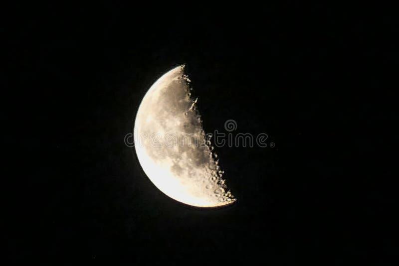Luna de disminución fotografía de archivo